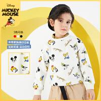 迪士尼男童圆领卫衣2021春装潮酷新款洋气童装儿童宝宝帅气上衣潮