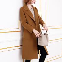 毛呢外套女中长款2018新款秋装韩版双面呢子大衣外套女冬零仿羊绒