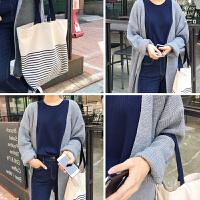 天天特价韩版条纹海军风大容量单肩手提帆布女包学生包环保购物袋