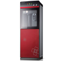 304不锈钢饮水机立式冷热办公室冰温热水机双门家用钢化玻璃节能制冷开水机