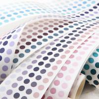 长诗渐变色基础盐系手帐和纸胶带整卷圆形手账贴纸彩色波点圆点