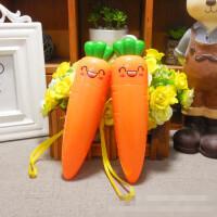 可爱创意胡萝卜充电风扇 夏日便携手持usb迷你电风扇卡通小风扇