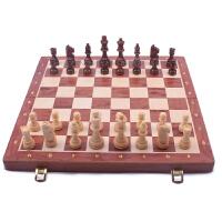 儿童chess礼品胡桃木棋盘初学者 国际象棋套装高档实木大号