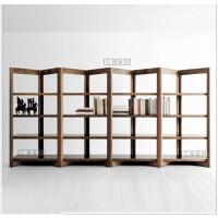美式简约现代实木书架书柜组合置物架多功能书柜创意展示落地架子