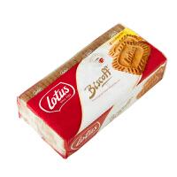 比利时进口饼干 lotus和情焦糖饼干350g休闲零食品咖啡好伴侣