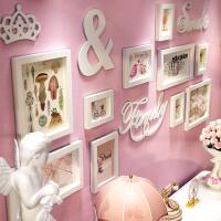 欧式小墙面浪漫照片墙相框墙创意组合客厅卧室儿童房相片墙