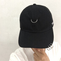 新款韩版时尚字母鸭舌帽嘻哈棒球帽子男女士潮刺绣春夏季LCQ 可调节