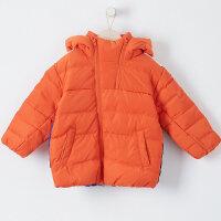 【全场2件2.5折,到手价:149.8】美特斯邦威旗下moomoo童装男童面包款羽绒服新款冬装连帽韩版中大儿童外套
