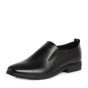 Tata/他她2018春专柜同款牛皮商务压花方跟男皮鞋S1564AM8