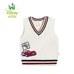 迪士尼Disney 宝宝马甲秋季男女宝宝套头背心V领针织马甲171S897