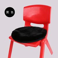 兔毛绒圆形坐垫学生方凳坐垫家用坐垫加厚冬季办公室电脑转椅垫