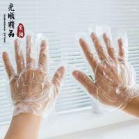 大号加厚 PE食品一次性手套 家居塑料透明一次性手套 薄膜手套