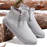 雪地靴男冬季保暖加绒东北棉靴加厚棉鞋男士休闲鞋防水马丁短靴子