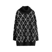 宽松高领毛衣女2018新款 黑色打底内搭针织衫冬套头上衣 黑色 均码