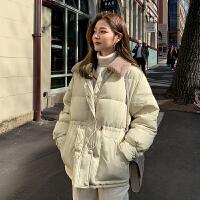 【大牌日2件2折335元仅限2.1日】韩都衣舍2019冬季新款毛领加厚外套收腰短款羽绒服女