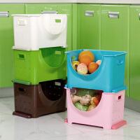 塑料水果收纳筐厨房蔬菜架子 浴室叠加收纳架卫生间置物架储物架