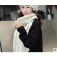 新款时尚简约兔毛线帽韩版保暖中年妈妈帽围巾