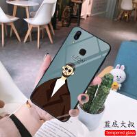 vivoy91玻璃手机壳y79网红同款x21s欧美杀手大叔里昂小萝莉y75保护套硅胶软边v11任意机