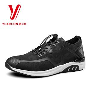 意尔康男鞋2018夏季新款潮流男士单鞋舒适系带透气户外休闲运动鞋