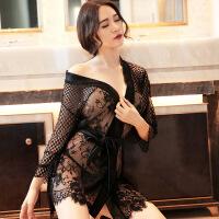 情趣内衣小胸透视装大码浴袍超薄激情套装和服制服夜店三点式sm骚