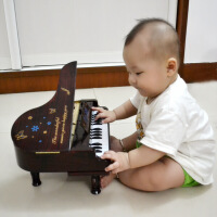 ?迷你小钢琴摆件 婴幼儿童乐器音乐玩具 仿真钢琴可弹奏音乐盒礼物