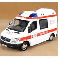 裕丰彩珀奔驰120救护车110合金伶俐宝警车丰田消防车汽车模型玩具