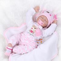 仿真婴儿娃娃reborn柔软陪睡宝宝玩具成长伙伴过家家 如图全套娃娃 55厘米