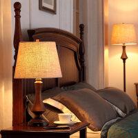 美式台灯卧室床头灯结婚现代复古乡村简欧式客厅书房创意浪漫