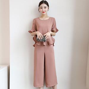 风轩衣度 套装/套裙2018年夏季时尚修身纯色气质韩版简约宽松 5b55-712