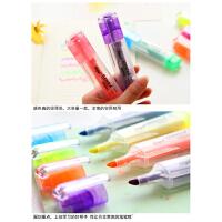 彩色大头记号笔荧光笔学生用荧光标记笔糖果色大容量