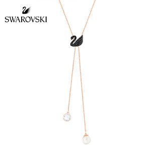 SWAROVSKI/施华洛世奇  Iconic Swan神秘黑天鹅可调节长度Y型链 项链 5351806