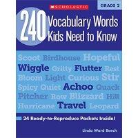 【现货】英文原版 二年级孩子(7岁)需要知道的240个单词 240 Vocabulary Words Kids Nee