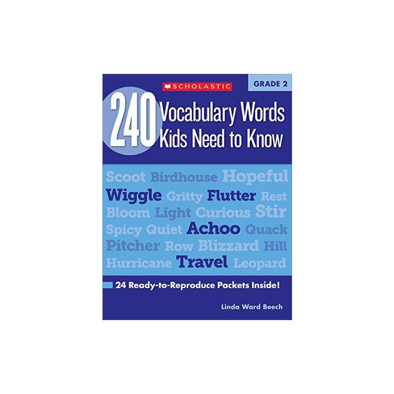 【现货】英文原版 二年级孩子(7岁)需要知道的240个单词 240 Vocabulary Words Kids Need to Know: Grade 2 词汇拓展练习册 国营进口!品质保证!