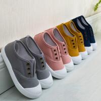 夏季儿童帆布鞋韩版透气网鞋男女童鞋中大童休闲单鞋宝宝一脚蹬