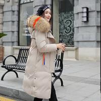 大毛领棉衣女中长款冬装新款棉袄韩版修身加厚羽绒外套潮