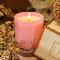 进口精油英国梨花&小苍兰香氛蜡烛礼盒香薰蜡烛杯无烟蜡烛礼品蜡