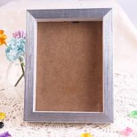 图个乐木质摆台相框画框胶相框支架画框奖状证书 8寸银色木质相框