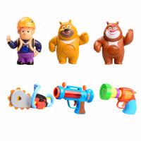 熊出没童玩具光头强的枪套装玩具抢电锯宝宝儿手抡小孩声光四件套