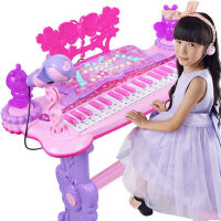 儿童电子琴带麦克风女孩3-6音乐小孩婴幼儿宝宝钢琴礼物玩具早教