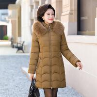 2018新款冬季中老年妈妈羽绒女中长款40到50加厚中年棉衣棉袄外
