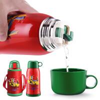 儿童保温杯幼儿园小学生水杯子不锈钢宝宝便携水壶带吸管两用