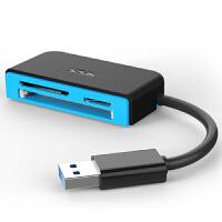 【支持礼品卡支付】飚王(SSK) SCRM330 高速USB3.0多合一读卡器 支持TF\SD\CF等手机相机 支持热