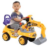 1-4岁儿童挖掘机玩具车男女孩可坐可骑挖机音乐工程学步车宝宝大号挖土机
