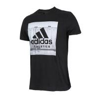 Adidas阿迪达斯 男子运动训练休闲透气T恤 BK2794