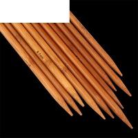 粗毛线木直针编织围巾帽子工具套装竹棒针36cm竹毛衣针 碳化竹针 35厘米2.5mm一副(4根) 送5个记号扣