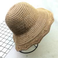 新款帽子春夏天针织帽上档次女士遮阳帽多角边网眼盆帽 M(56-58cm)