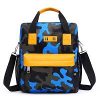 男孩手拎包儿童手提袋美术包小学生补习袋双肩防水补课包斜挎书包