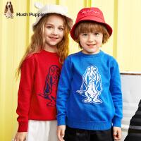 【2件5折:86元】暇步士男女童款毛衣春季新款儿童套头圆领线衣中大童针织衫