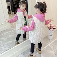 女童冬装2018新款小女孩棉马甲卫衣两件套女宝宝加厚儿童洋气套装