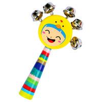 木质卡通娃娃手摇铃儿童宝宝宝宝婴儿玩具男孩女孩0-6-12个月